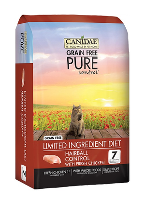 Canidae Grain Free Pure Control Limited Ingredient Diet With Fresh Chicken For Hairball Control