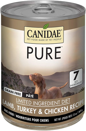 Canidae Grain Free Pure Elements Lamb, Turkey and Chicken Formula Simmered In Lamb Broth