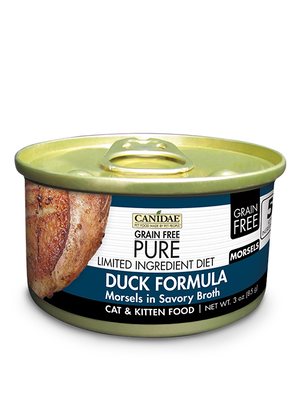 Canidae Grain Free Pure Limited Ingredient Diet Duck Formula Morsels In Savory Broth