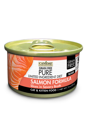 Canidae Grain Free Pure Limited Ingredient Diet Salmon Formula Slices In Savory Broth