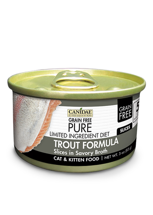 Canidae Grain Free Pure Limited Ingredient Diet Trout Formula Slices In Savory Broth