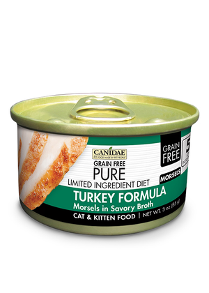 Canidae Grain Free Pure Limited Ingredient Diet Turkey Formula Morsels In Savory Broth