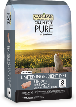 Canidae Grain Free Pure Meadow Limited Ingredient Diet With Fresh Chicken For Senior and Less Active Cats