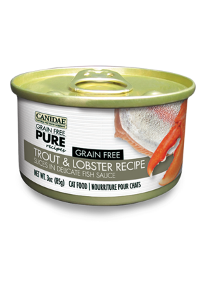 Canidae Grain Free Pure Recipes Trout and Lobster Recipe Slices In Delicate Fish Sauce