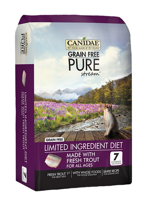 Canidae Grain Free Pure Stream Limited Ingredient Diet Made With Fresh Trout