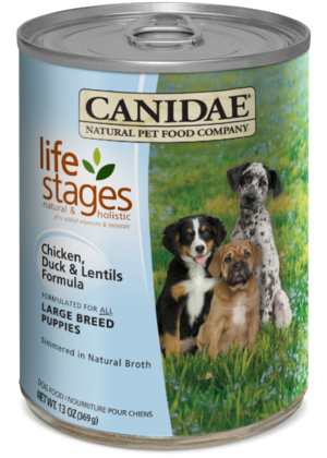 Canidae Life Stages Chicken, Duck and Lentils Formula For Large Breed Puppies