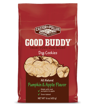 Castor & Pollux Good Buddy Dog Cookies Pumpkin & Apple Flavor