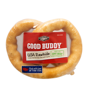 Castor & Pollux Good Buddy USA Rawhide Pretzel With Natural Chicken Flavor