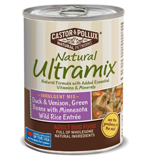 Castor & Pollux Natural Ultramix Duck & Venison, Green Beans With Minnesota Wild Rice Entree For Adult Dogs