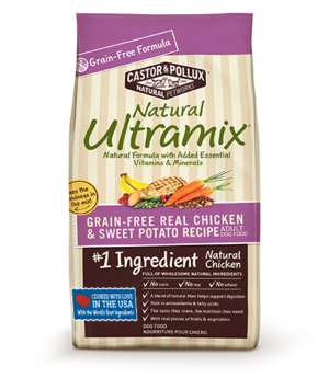 Castor & Pollux Natural Ultramix Grain Free Real Chicken & Sweet Potato Recipe For Adult Dogs