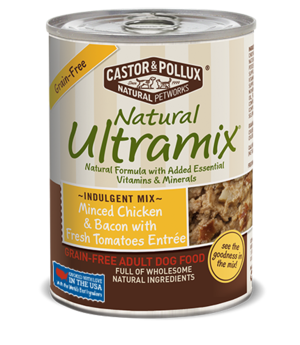 Castor & Pollux Natural Ultramix Minced Chicken & Bacon With Fresh Tomatoes Entree - Grain Free Adult