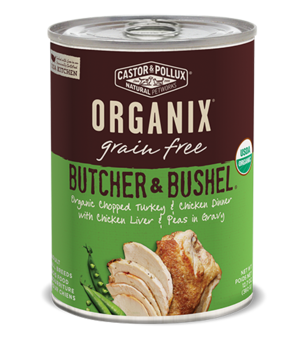 Castor & Pollux Organix Grain Free Butcher & Bushel Organic Chopped Turkey & Chicken Dinner