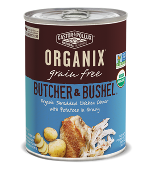 Castor & Pollux Organix Grain Free Butcher & Bushel Organic Shredded Chicken Dinner