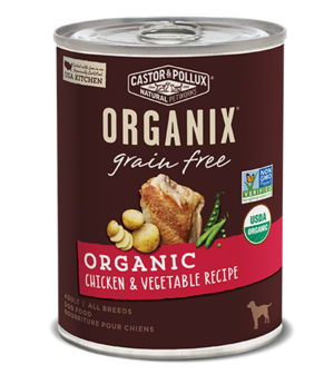 Castor & Pollux Organix Grain Free Organic Chicken & Vegetable Recipe