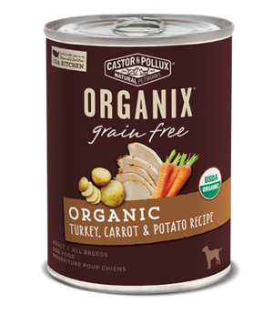 Castor & Pollux Organix Grain Free Organic Turkey, Carrot & Potato Recipe