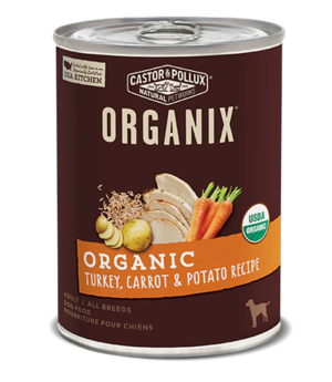 Castor & Pollux Organix Organic Turkey, Carrot & Potato Recipe