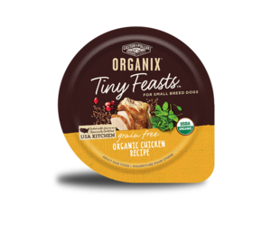 Castor & Pollux Organix Tiny Feasts Grain Free Organic Chicken Recipe