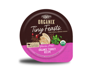Castor & Pollux Organix Tiny Feasts Grain Free Organic Turkey Recipe