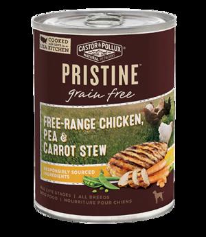 Castor & Pollux Pristine Grain Free Free-Range Chicken, Pea & Carrot Stew