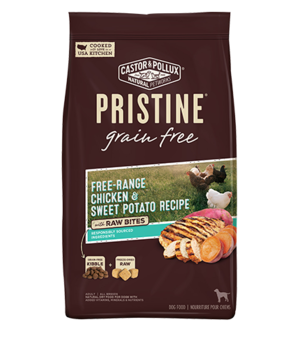 Castor & Pollux Pristine Grain Free Free-Range Chicken & Sweet Potato Recipe With Raw Bites
