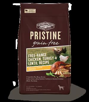 Castor & Pollux Pristine Grain Free Free-Range Chicken, Turkey & Lentil Recipe