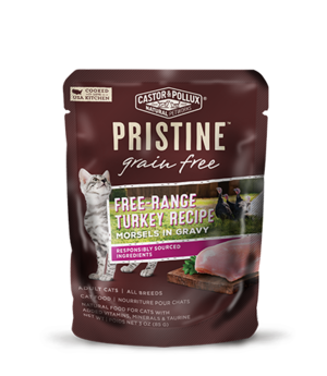 Castor & Pollux Pristine Grain Free Free-Range Turkey Recipe Morsels In Gravy