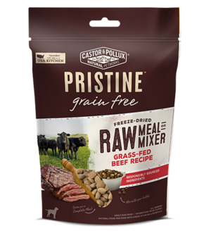 Castor & Pollux Pristine Grain Free Freeze-Dried Raw Meal Or Mixer Grass-Fed Beef Recipe