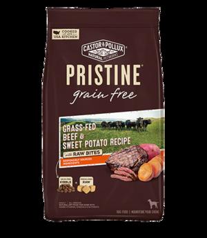 Castor & Pollux Pristine Grain Free Grass-Fed Beef & Sweet Potato Recipe With Raw Bites