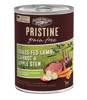 Castor & Pollux Pristine Grain Free Grass-Fed Lamb, Carrot & Apple Stew