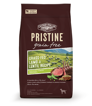 Castor & Pollux Pristine Grain Free Grass-Fed Lamb & Lentil Recipe