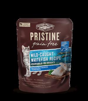 Castor & Pollux Pristine Grain Free Wild-Caught Whitefish Recipe Morsels In Gravy