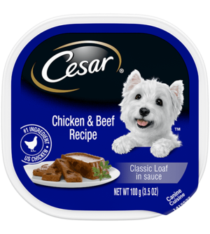 Cesar Classics With Chicken & Beef In Meaty Juices