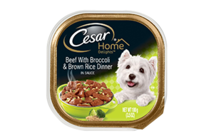 Cesar Home Delights Beef With Broccoli & Brown Rice Dinner In Sauce