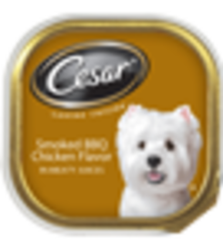 Cesar Original Pate Smoked BBQ Chicken Flavor In Meaty Juices