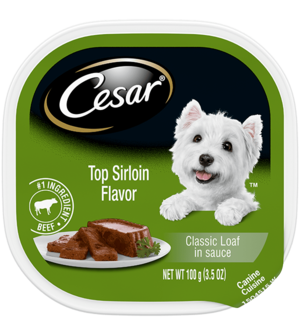 Cesar Classics Top Sirloin Flavor In Meaty Juices