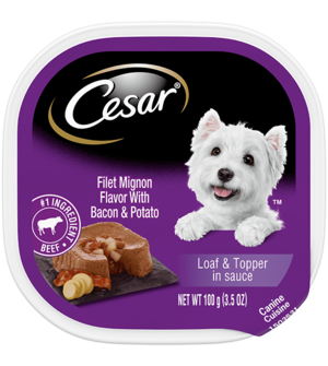 Cesar Savory Delights Filet Mignon Flavor With Bacon & Potato In Meaty Juices