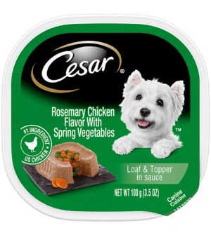Cesar Savory Delights Rosemary Chicken Flavor With Spring Vegetables In Meaty Juices