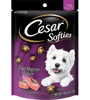 Cesar Softies Filet Mignon Flavor