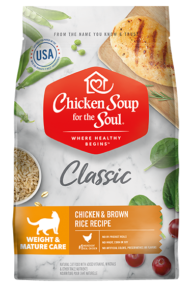 Chicken Soup For The Soul Dry Cat Food Weight and Mature Care