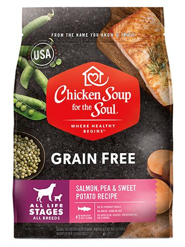 Chicken Soup For The Soul Grain Free Salmon, Sweet Potato & Pea Recipe