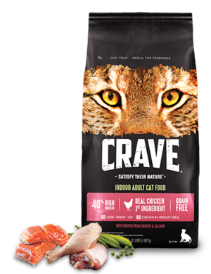 Crave Indoor Dry Cat Food With Protein From Chicken & Salmon