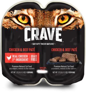 Crave Wet Cat Food Grain Free Chicken & Beef Pate
