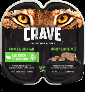 Crave Wet Cat Food Grain Free Turkey & Duck Pate