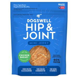 Dogswell Happy Hips Chicken Breast Jerky Treats (Minis For Small Dogs)
