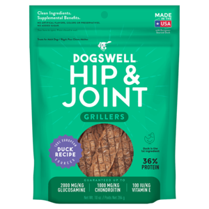 Dogswell Happy Hips Duck Recipe Grillers