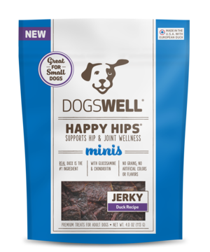 Dogswell Happy Hips Duck Recipe Jerky Treats (Minis For Small Dogs)