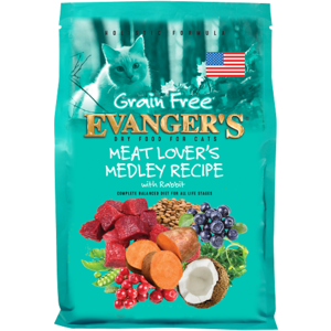 Evanger's Grain Free Dry Food Meat Lover's Medley With Rabbit