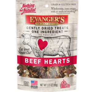 Evanger's Nothing But Natural 100% Whole Meat Treats Freeze-Dried Beef Hearts
