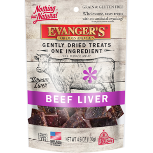 Evanger's Nothing But Natural 100% Whole Meat Treats Freeze Dried Beef Liver