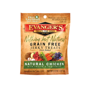 Evanger's Nothing But Natural Grain Free Jerky Treats Natural Chicken With Fruits and Vegetables
